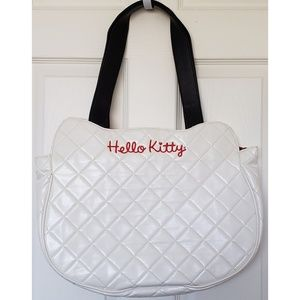 7f398cfed9e8 Loungefly Bags - Hello Kitty White Quilted Face Tote Bag